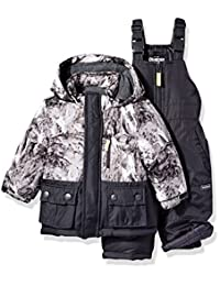 OshKosh baby-boys Baby Infant Heavyweight 2 Pc Printed Snowsuit
