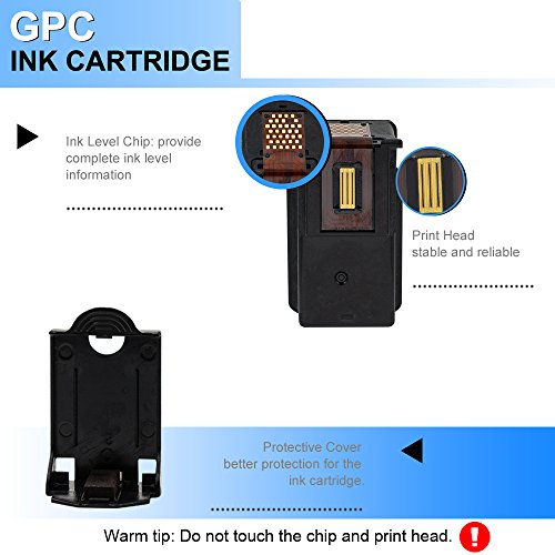 GPC Image 2 Black Remanufactured Ink Cartridge (InkLevel Chip) Replacement for Canon PG-210XL 210XL 210 XL High Yield (2 Black) for Canon PIXMA iP2702 MP495 MP240 MX410 MP280 MP480 MX360 MX420 Printer Photo #5