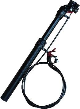 31.6 * 400 mm MTB Mountain Bike Lift Tija de sillín Altura Cable ajustable Control remoto Gotero Asiento Poste Bicicleta de pista cuesta abajo DH FR AM XC Endure Bike (31.6 *