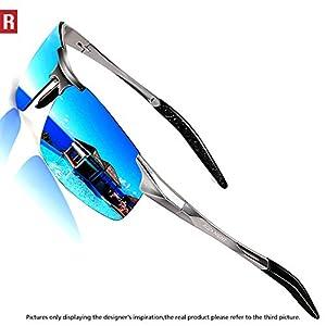 ROCKNIGHT Driving Polarized Sunglasses for Men UV Protection Ultra Lightweight Al Mg Golf Fishing Sports Sunglasses