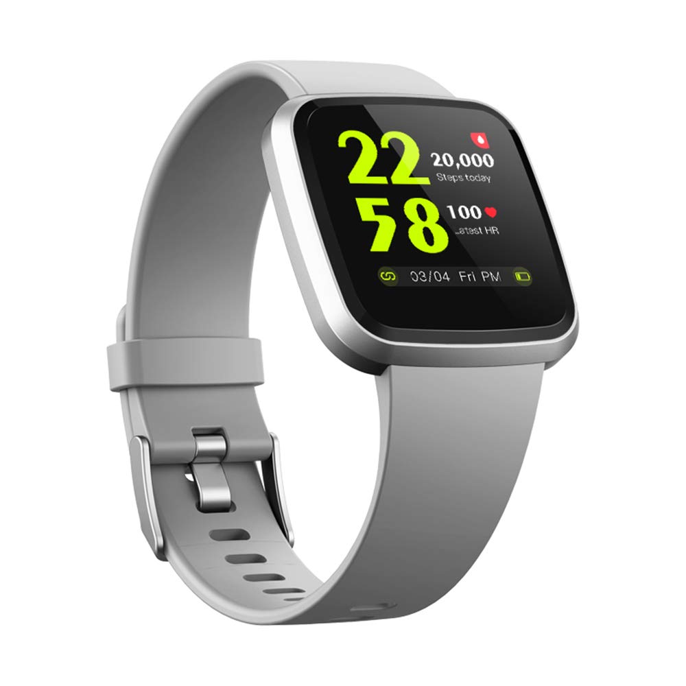 H4-V12 Smartwatch for Men& Women Color Screen IP67 Waterproof Heart Rate SpO2 Monitor Health Smart Watches / Sports Fitness Activity Tracker Running Watch Compare with Android & iOS phones (Gray)