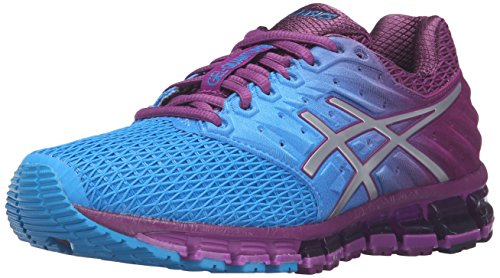ASICS Women's Gel-Quantum 180 2 running Shoe, Blue Jewel/Silver/Phlox, 11 M US by ASICS
