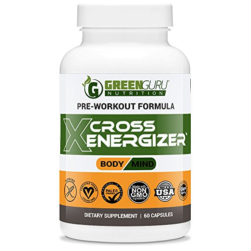 Pre Workout Energy Pills - Sustain Energy & Focus - Works with Nitric Oxide Boosters - All Natural Weight Loss Supplements - Crossfit, BodyBuilding, Cardio, Weightlifting (Veggie Capsules)