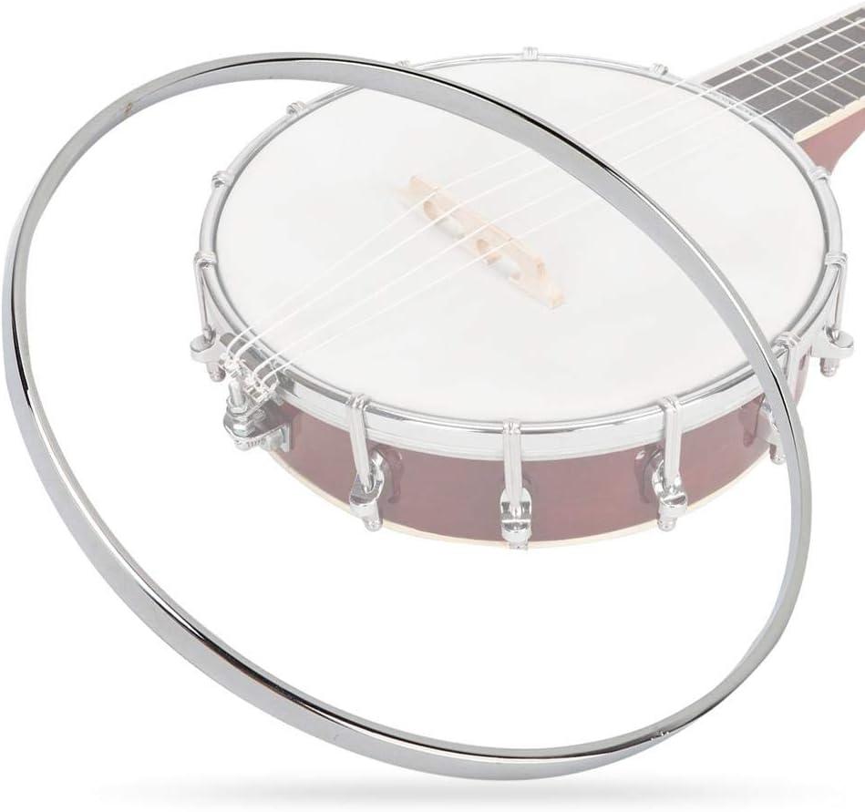 8 Inch Steel Banjo Tension Hoop Nickel-Plated Banjo Guitar Hoop Ring Banjo Parts