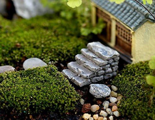 benbroo Micro paisaje decoraciones resina mini escalera Jardín Decoración para parque patio cubierta Patio jardín casa camino, Straight: Amazon.es: Jardín