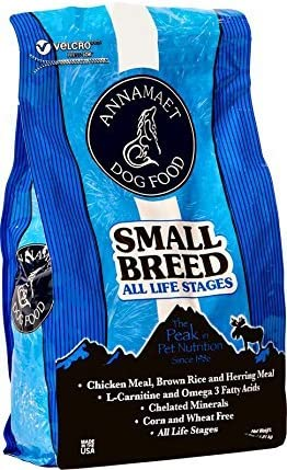 Annamaet Small Breed All Life Stages Dry Dog Food 12 lb Bag.