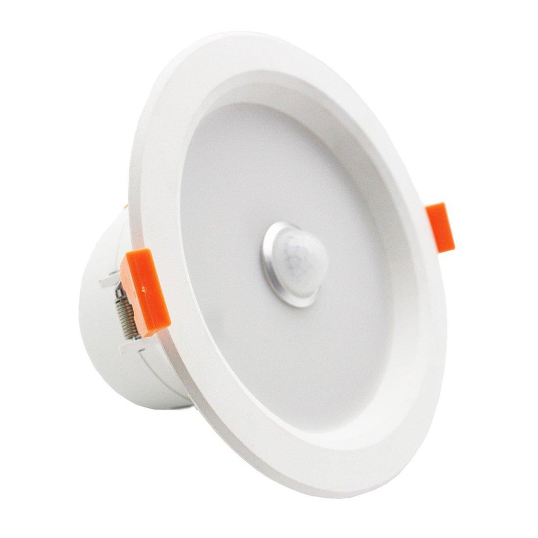 lediary 6 W Blanco Redondo LED Downlight del Sensor de Infrarrojos Cuerpo Humano Inducción empotrable Techo luz Fría luz: Amazon.es: Bricolaje y ...