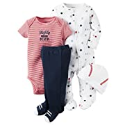 Carter's Baby Boys' 4 Piece Layette Set (Baby) - Mighty Cute MVP-3M