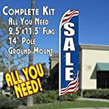 SALE (Patriotic) Flutter Feather Banner Flag Kit (Flag, Pole, & Ground Mt) Review