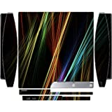 Colorful Design Bright Colors Lines Design Playstation 3 & PS3 Slim Vinyl Decal Sticker Skin by Moonlight Printing
