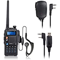 2015 NEW BAOFENG UV-5X UHF+VHF Dual Band/Dual Watch Two-Way Radio + Programming Cable + Mic