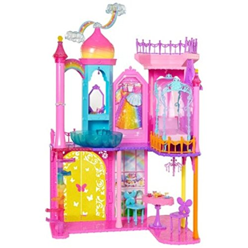 Barbie Rainbow Cove Castle Glam Chandelier with Shell-shaped mermaid pool