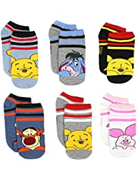 Winnie the Pooh Girls Womens 6 pack Socks (Toddler/Little...