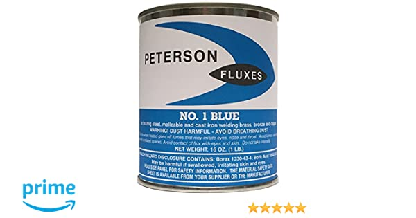 Peterson #1 Flux, Blue Powder, 1 lb Can: Amazon.com: Industrial & Scientific