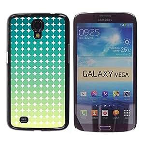 Be Good Phone Accessory // Dura Cáscara cubierta Protectora Caso Carcasa Funda de Protección para Samsung Galaxy Mega 6.3 I9200 SGH-i527 // Pattern Art Green Blue White Stars