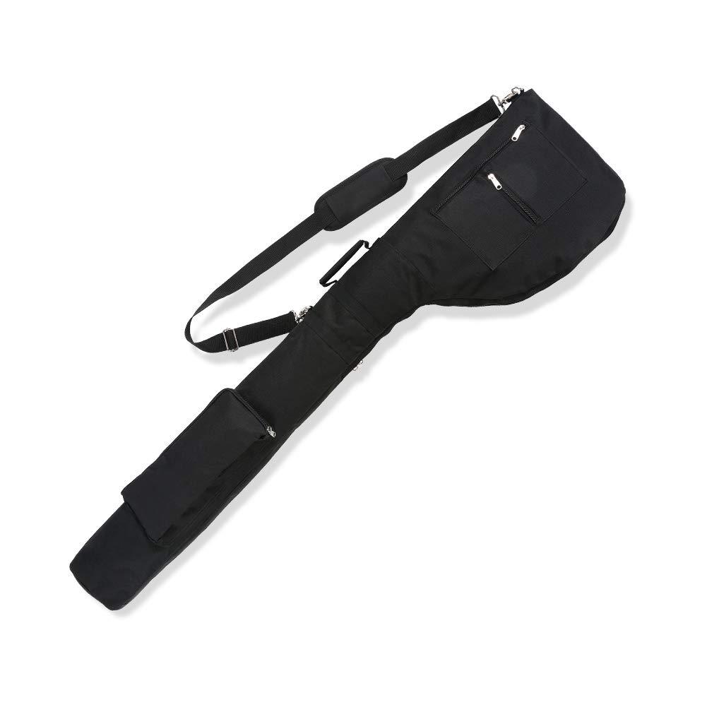 LONGCHAO Golf Sunday Bag-Driving Range Mini Course Training Practice Golf Bag Travel Case Foldable (Black) by LONGCHAO