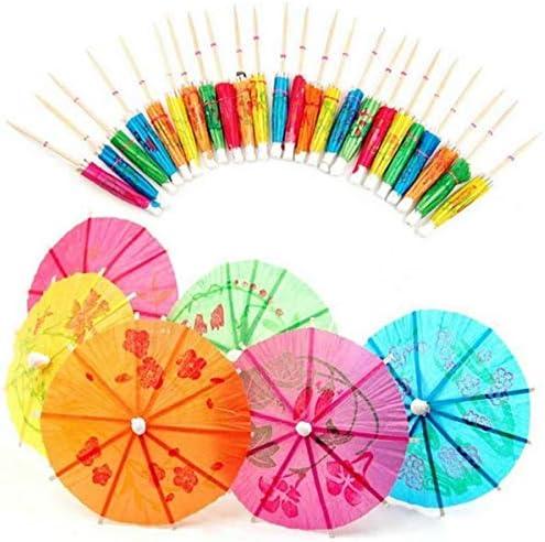 Gifts 4 All Occasions Limited 144 x Papier-Regenschirm, Sonnenschirme, tropische Party, Lebensmittel-Getränke, Dekoration, Picks, mehrfarbig