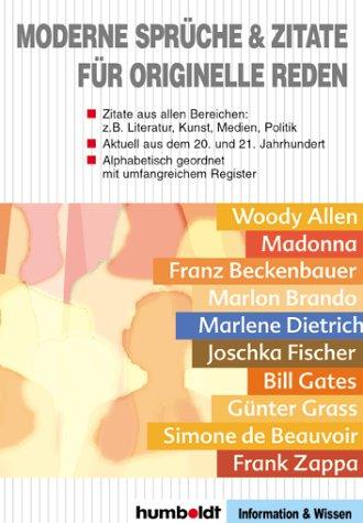 Moderne Sprüche und Zitate für originelle Reden.: 9783708199856