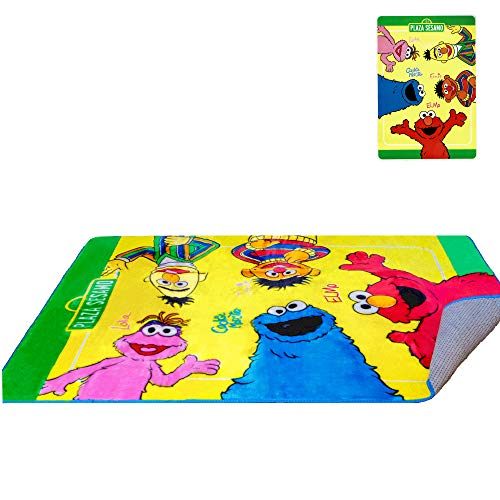 (Sesame Street Elmo & Friends Amigos Rug 48'' x 72'' - Officially Licensed - Super Soft & Thick Surface - Anti-Slip for Hard Surface Floor - 100% Polyester)
