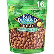 Blue Diamond Almonds, Bold Wasabi & Soy Sauce, 16 Ounce (Pack of 1)