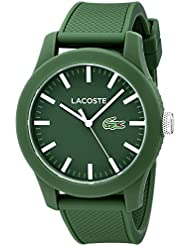 Lacoste Mens 2010763 Lacoste.12.12 Green Resin Watch with Silicone Band