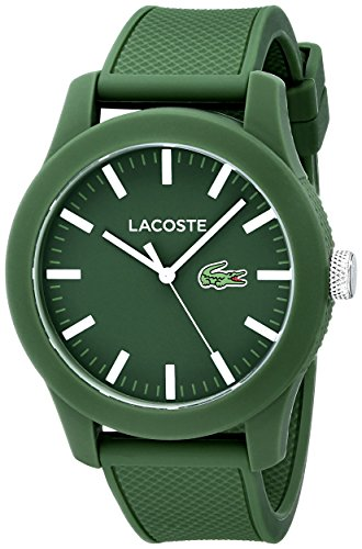 Lacoste Mens 2010763 Lacoste1212 Green Resin Watch with Silicone Band