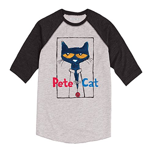 Price comparison product image Pete the Cat Frame with Button - TODDLER RAGLAN - 4T