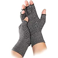 Compression Arthritis Gloves Fingerless - TERSELY Warmth Therapeutic Compression Gloves for Pain Relief- Support & Improve Circulation in Wrist & Hand, Helps with Carpal Tunnel & More(Size M)