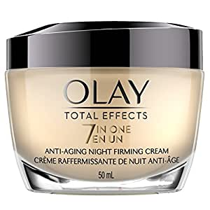 Olay Total Effects Anti-Aging Night Firming Cream & Face Moisturizer, 1.7 Fluid Ounce