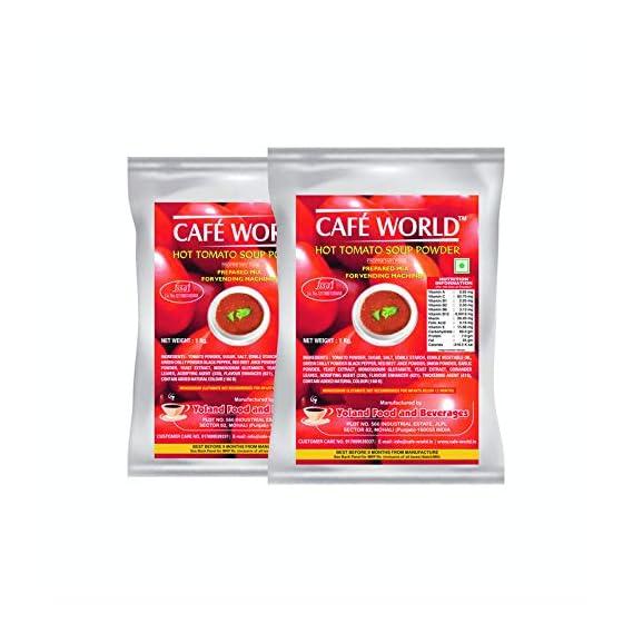 CAFE WORLD Tomato Soup Premix, 1Kg (Pack of 2)