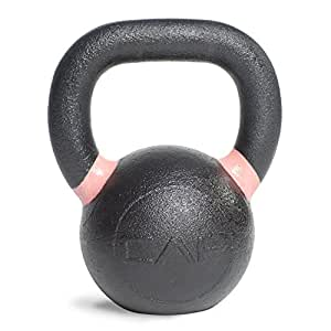 CAP Barbell Cast Iron Competition Weight Kettlebell, 9-Pound, Black/White