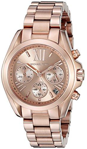 Michael Kors MK5799 – Reloj de cuarzo con correa de acero inoxidable para mujer, color rosa