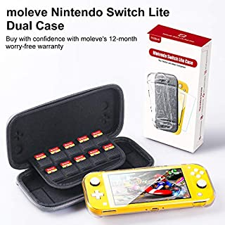 moleve Nintendo Switch Lite Case with TPU Switch Lite Clear Case & Switch Lite Screen Protector, Portable Carrying Case for Nintendo Switch Lite 2019, Switch Lite Accessories
