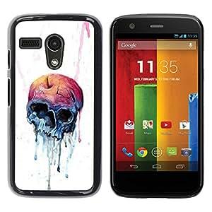 All Phone Most Case / Oferta Especial Duro Teléfono Inteligente PC Cáscara Funda Cubierta de proteccion Caso / Hard Case Motorola Moto G 1 1ST Gen // Melting Apple Skull