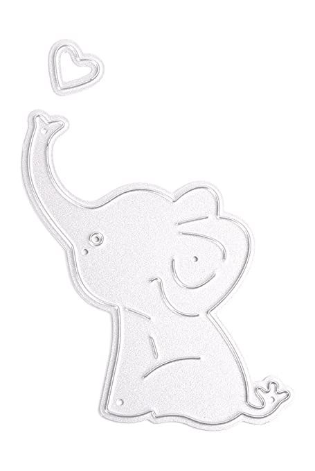 image regarding Printable Elephant Stencil referred to as : C-Pioneer Little one Elephant Artistic Chopping Dies