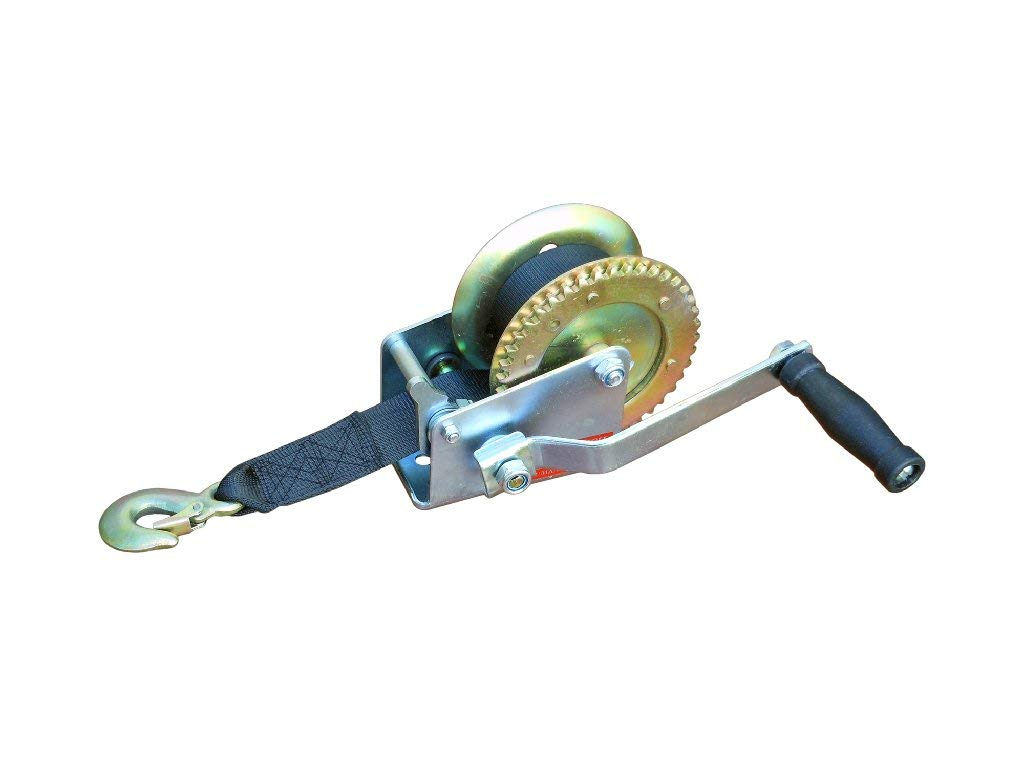 Five Oceans Marine Trailer Crank Hand Winch for Boats 600 Lbs with Strap Manual FO-1782