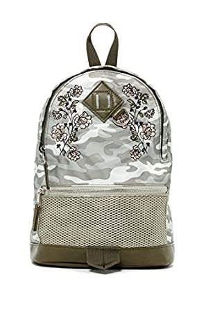 5ff0b7c9e09a0 Image Unavailable. Image not available for. Color  Madden Girl Printed Mini  Nylon Backpack Olive