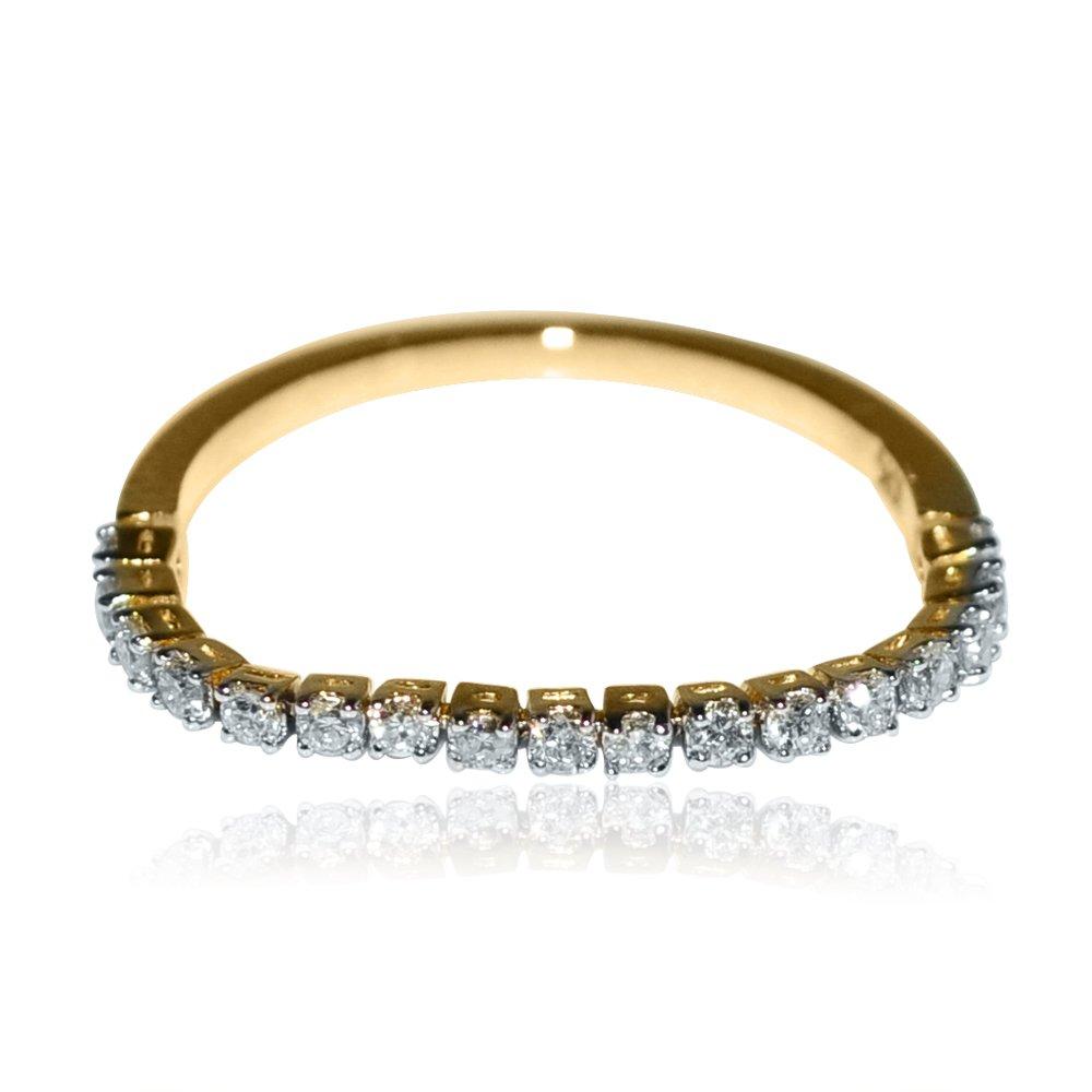 Amazon Com Flex Wedding Band Anniversary Ring 1 4cttw 10k Yellow