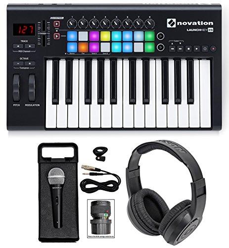 Novation LAUNCHKEY-25-MK2 25-Key USB MIDI Keyboard Controller+Headphones+Mic