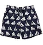 Vilebrequin Boys Sail Boat Navy Blue/White Swim Trunks 8