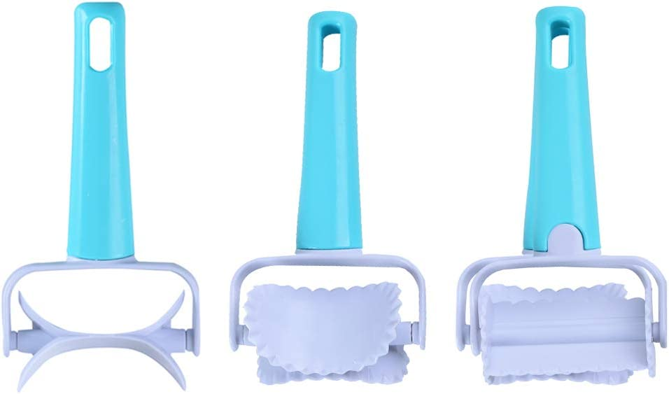 3 Types Rolling Pastry Cutter- Roller Slicer for Fondant Cake, Cookies, Biscuits