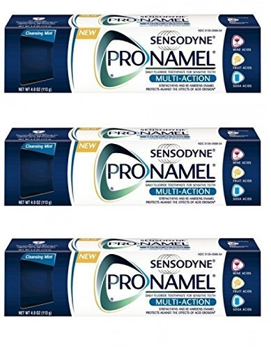 Sensodyne Pronamel Multi-Action Toothpaste, Cleansing Mint 4 oz (Pack of 3)