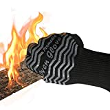 Heat Resistant Gloves BBQgloves - PROMEDIX - Grilling Gloves, Maximum Hot Surface Temperature 932℉, Fireproof Gloves for Oven Baking, Camping, Barbecue