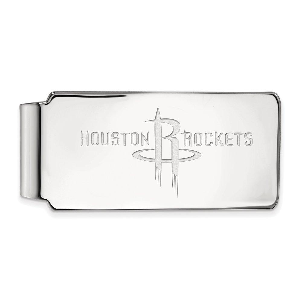 NBA Houston Rockets Money Clip in 10K White Gold by LogoArt
