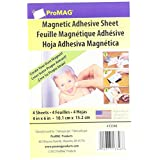"ProMag Adhesive Magnetic Sheet-4""X6"" 4/Pkg"