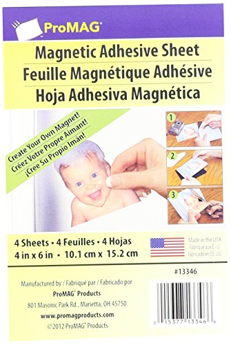 ProMag Adhesive Magnetic Sheet-4'X6' 4/Pkg