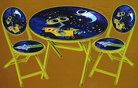 Amazon.com: Disney Pixar Wall-E 3PC Table and Chair Set: Kitchen ...