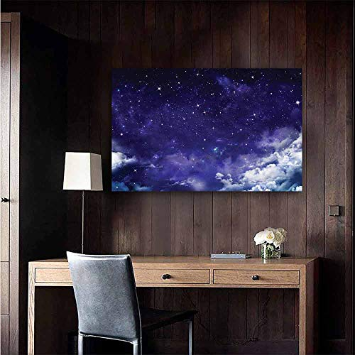 Gabriesl Wall Mural Wallpaper Stickers Space Dreamy Night with Stars 3D Bathroom Decal Size : W48 x H32 (Dreamy Nights Wall Border)