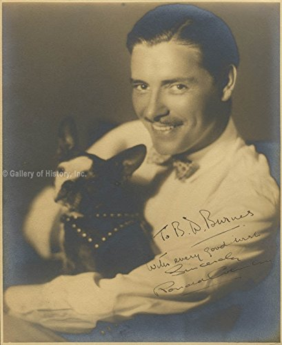 Silent Movie Actors Costume (Ronald Colman - Inscribed Photograph Signed)