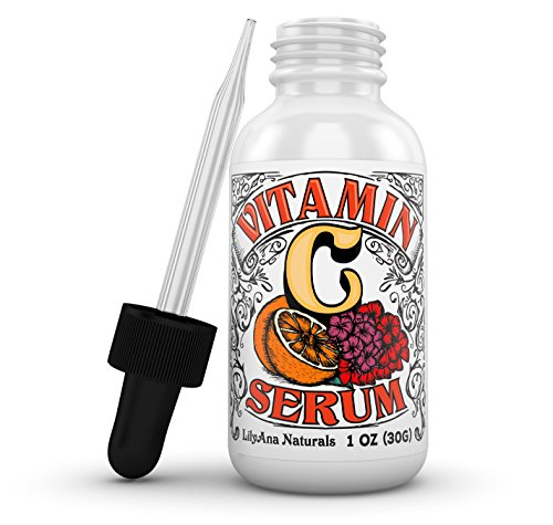 Vitamin C Serum with Hyaluronic Acid for Face and Eyes  Organic Skin Care with Natural Ingredients